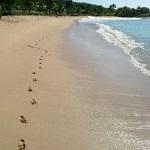 Strand voetafdruk1